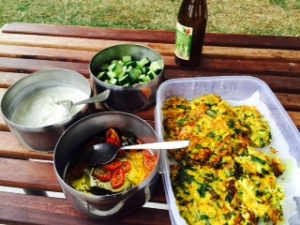 Indian Street Fair at Enmore Park - Cabbage and coriander fritters
